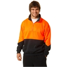 Hi Vis Fleece Sweat with collar, half front zipper